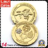高品質OEMの金カラー記念品の硬貨