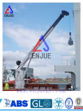 Gru in mare aperto della nave dell'asta telescopica idraulica dell'articolazione