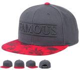 Hip Hop Acrylique cinza Snapback Caps com 3D Verde Neon Bordados Bill Snap