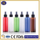 150ml frascos de cosméticos de plástico coloridas com pulverizador da Bomba