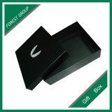 Черная коробка подарка картона квадрата цвета