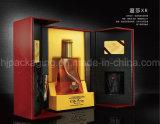 2017 رفاهية يعبّئ ورق مقوّى شراب صناديق مع صينيّة