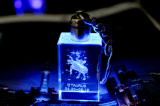 Preço de fábrica santamente da máquina da gravura do laser 3D do laser 2017