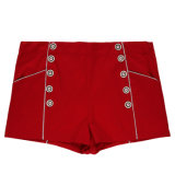 Vêtements de mode Femmes Red Sexy Leisure Shorts en Stock
