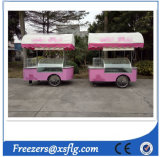 Carrinhos de sorvete Gelato italianos / Freezers de Showcase de Popsicle (CE aprovado)