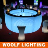 빛난 LED 클럽 바 카운터 디자인 정원 클럽 LED 휴대용 바 카운터