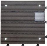 Fácil de instalar WPC piso del jardín de enclavamiento de la luz solar