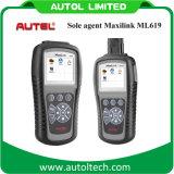 100% Original Autel Maxilink Ml619 Carros de diagnóstico OBD de alta qualidade Autel Al619 Maxilink Ml619 OBD Scanner