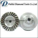 Колесо чашки диаманта Turbo этапа конкретного каменного металла меля алюминиевое