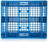 Da bandeja plástica padrão do HDPE da pálete 1200*1000*155mm da UE dos produtos do armazém pálete plástica com 3 a barra de aço da inserção 4 dos corredores