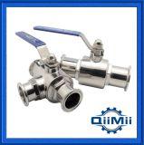 Válvula de bola estándar de acero inoxidable sanitario Soldadura / abrazadera / hilo