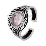 Relojes de la pulsera del brazalete del oro del cuarzo para las señoras
