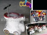 Jogo de corrida carro de toalete inflável, passeios de toalete, cabine de bilhar carro