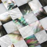 Shell de agua dulce y azulejo de mosaico negro del shell 15*15 de la fregona del labio