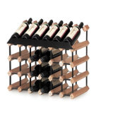 24 de Rekken van de Rode Wijn van het Hout en van het Metaal van het Ontwerp van Bordex van de fles
