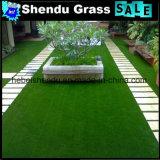 grama da paisagem de 120stitch/M com fio artificial da grama