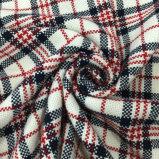 Пряжа креста ткани шерстей проверки шинели