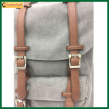Heißer verkaufensegeltuch-u. Leder-Arbeitsweg-Rucksack, der Rucksack (TP-BP201, wandert)