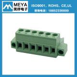 3.81mm 5.08mm сооружают блок зеленой весны Screwless терминальный