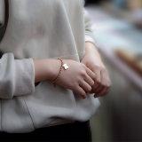 女性の宝石類の方法ステンレス鋼かわいいくまの魅力のブレスレット