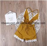 L'équipement de Sunsuit de salopette de barboteuse d'Un-Parties de Halter de bébés vêtx 0-24m Esg10176