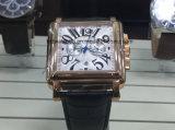 スチール・ケースが付いているメンズ機械骨組腕時計