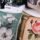 De Kussens van het katoenen Af:drukken van het Linnen voor Woonkamer