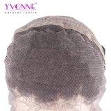 Fashion Malais Curl Brazilian Remy Hair Perruque, Alixpress Yvonne perruques avant en laine des cheveux humains, couleur 1b Perruque