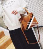 女性Sy8308のための白黒縞の学生かばん袋を持つOEMのハンドバッグの女性2017年