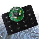 16ポート96W 1000mA USBの充電器USB2.0の日付同期信号ハブ
