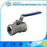 3PC de Roestvrij staal Geschroefte Kogelklep van uitstekende kwaliteit