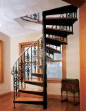 Escalier spiralé d'intérieur d'usine de fabrication