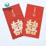 L'impression en papier rouge contenant de l'argent comme cadeau pour Weding
