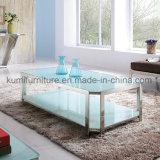 Mesa de centro de los muebles de la sala de estar para con base metálica