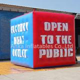 Personnalisé de l'hélium ballon gonflable carré de cube pour la publicité