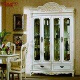 Cremagliera bianca di legno del vino della pittura della Rosa della mobilia domestica (GSP19-014)