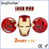 Superman Iron Man face à la conception de la batterie d'alimentation USB externe (XH-PB-138)