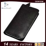 Bolsa de couro real conveniente Carteira de cartão de mão móvel para homens