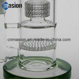 3 capas del diseño del tubo que fuma del agua de cristal con el panal (ZY009)