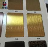 Miroir de délié balayé par panneau de feuille de couleur d'acier inoxydable d'or terminé