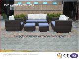 現代庭の家具の枝編み細工品か藤のソファー(TG-7001)