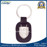 Custom Metal Leather Keychain com carros Logo Metal Plate