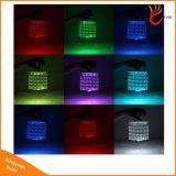 접을 수 있는 다이아몬드 RGB 다채로운 팽창식 태양 손전등 빛 태양 에너지 대기권 빛
