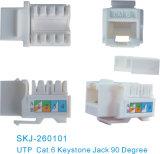 90 grau CAT6 UTP Conector RJ45