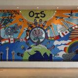 Nuova carta da parati dei servi del fumetto di disegno per i murali della parete della decorazione della stanza della base dei bambini