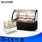 Congelador para o gabinete de indicador da padaria dos doces