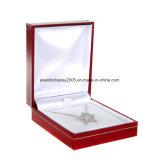 Красный комплект коробки подарка ювелирных изделий 3 - коробка кольца, серьги и ожерелья