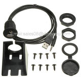 Audioleitungskabel-ZusatzStirnwand-Montierungs-Kabel 1m Gleichstromwasserdichtes 3.5mf USB-1.1/2.0 Am/Af für Motorrad-Auto-Gedankenstrich-Vorstand