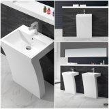 浴室(B170928)に使用する白い大理石の軸受けの洗面器