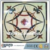 Disegno di marmo diretto del medaglione del quadrato del getto di acqua della fabbrica per il pavimento e la parete